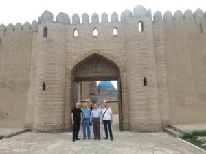 European Council on Tourism and Trade delegation at the gates of Turkestan