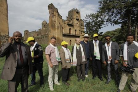 ECTT President touring Gondar Imperial Compound
