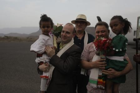 European President Anton Caragea welcomed at Lalibela-capital of christian Ethiopia