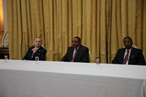 President Anton Caragea, Prime Minister Hailemariam Desalegn and Minister of Culture and Tourism-Amin Abdulkadir