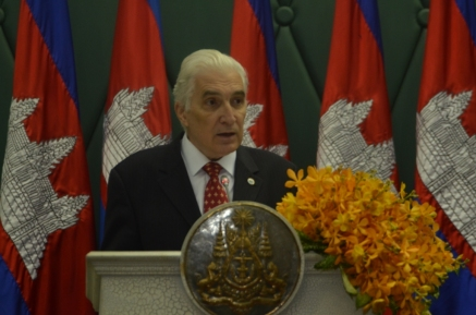 Academician Mircea Constantinescu eulogy for H.E. Prime Minister of CAMBODIA
