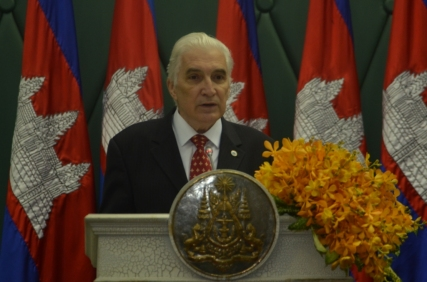 Academician Mircea Constantinescu LAUDATIO for H.E. Prime Minister of CAMBODIA