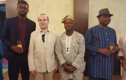 President Anton Caragea and representatives from Nigeria,Benin and Senegal