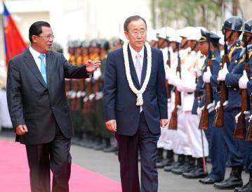 Samdech Hun Sen-ONU Secretary General Ban Ki moon 2
